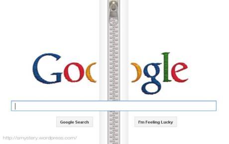 Logo Google Doodle Zipper, Gideon Sundback